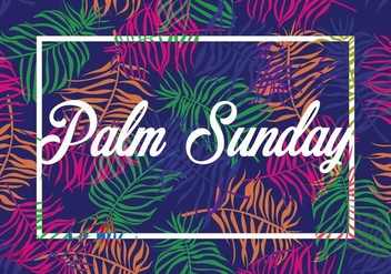 Bright Branches Palm Sunday Background - бесплатный vector #395231