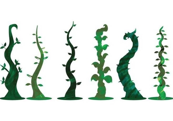 Watercolor Beanstalk Vectors - бесплатный vector #395251