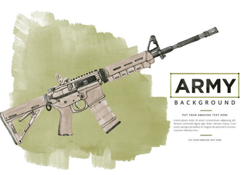 Free Ar15 Watercolor Background - бесплатный vector #395441