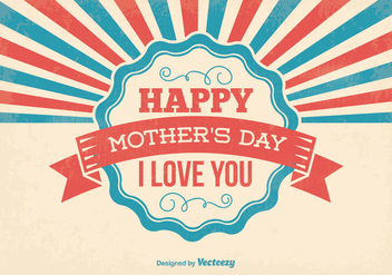 Retro Mother's Day Illustration - vector gratuit #395641