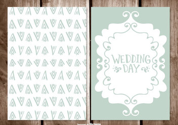 Wedding Card Illustration - vector gratuit #395711