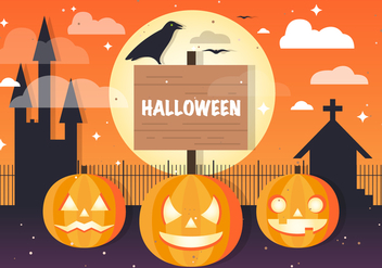 Free Halloween Jackolantern Vector Background - бесплатный vector #395771