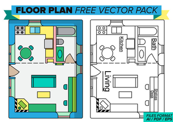 Floorplan Free Vector Pack - Kostenloses vector #395861