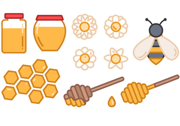 Free Honey Vector - vector #395911 gratis
