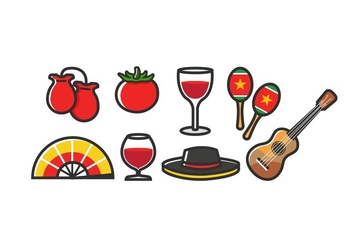 Free Spain Icons - vector gratuit #396031