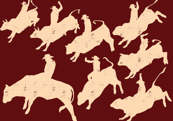 Rodeo Silhouette - Free vector #396051