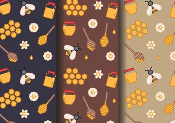 Free Honey Pattern Vector - бесплатный vector #396081
