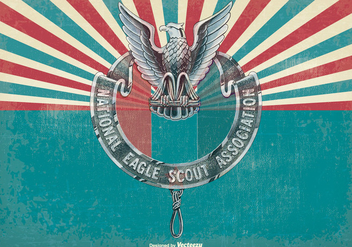 Vintage Eagle Scout Illustration - бесплатный vector #396121