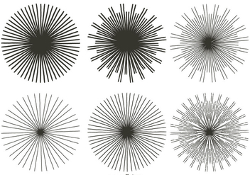 Vintage Sunburst Shapes - Kostenloses vector #396131