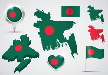 Free Bangladesh Vector Set - бесплатный vector #396151