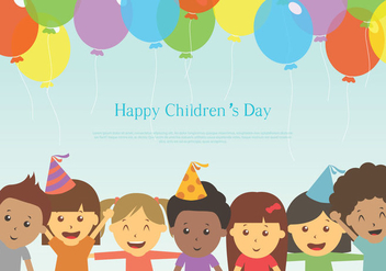 Free Happy Children's Day - vector gratuit #396201