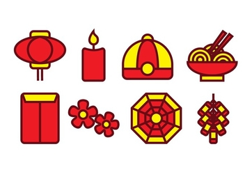 Free Chinese Icon Set - vector gratuit #396361