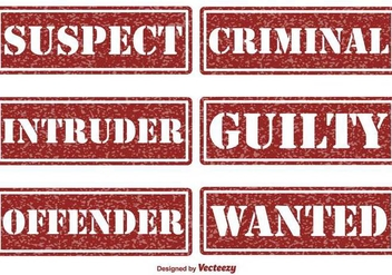 Criminal and Justice Vector Stamps - vector gratuit #396391