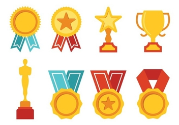 Free Award Icon Set - vector gratuit #396441