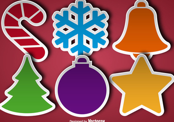 Christmas Stickers Icon - Kostenloses vector #396481