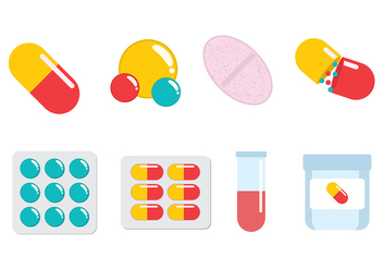 Pill Box Vector - vector #396501 gratis