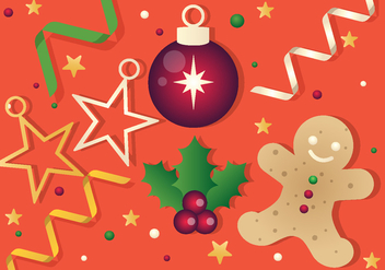 Free Vector Christmas Background Illustration - Free vector #396551