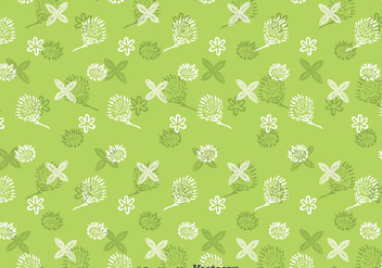 Protea Flowers Pattern Background - Free vector #396621