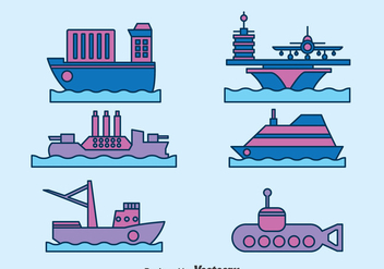 Water Transport Collection Vector - бесплатный vector #396711