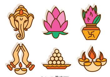 India Culture Vector Set - vector gratuit #396731