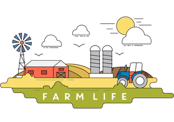 Farm Vector Illustration - Free vector #396831