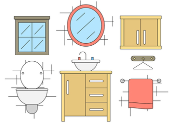 Bathroom Vector Icons - бесплатный vector #396841