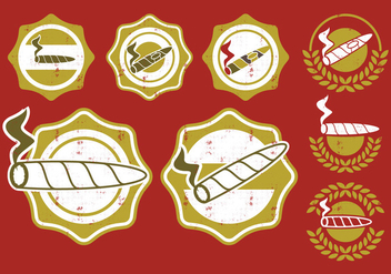 Cigar Label Badge - vector gratuit #396901