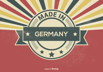 Retro Style Made in Germany Illustration - Free vector #396961