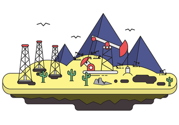 Free Oil Field Illustration - бесплатный vector #397011