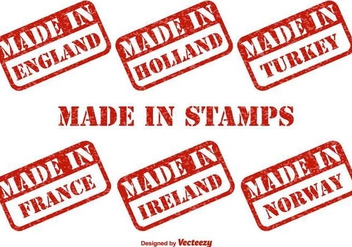 Made In Countries Vector Stempel - vector #397031 gratis