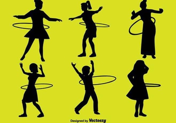 People With Hula Hoop Icon Set - Free vector #397061