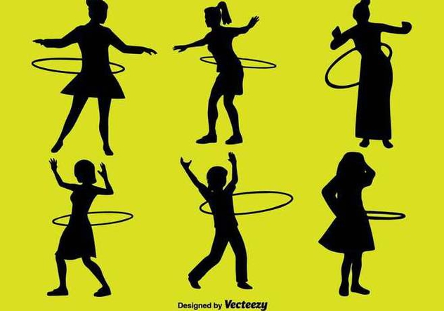 People With Hula Hoop Icon Set - vector #397061 gratis