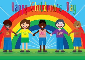 Happy Children Day Vector Background - vector gratuit #397251