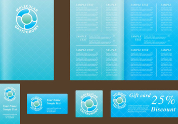 Blue Menu Templates - Free vector #397271