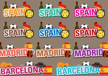Vector Spain Titles - бесплатный vector #397281