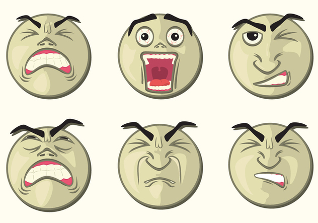 Rounded Affliction Faces - Free vector #397331
