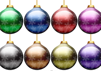 Vector Set Of Christmas Spheres - Free vector #397351