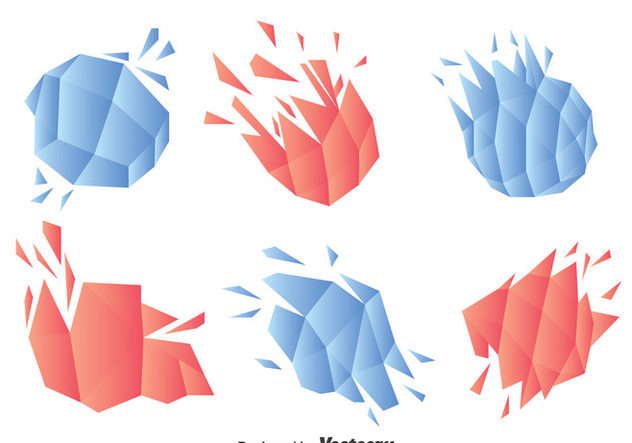 Abstract Shatter Object Vector - Free vector #397381
