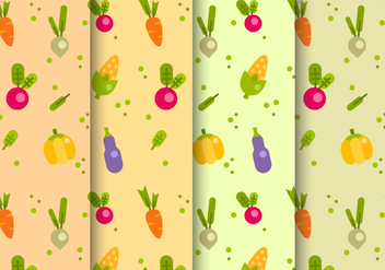Free Vegetables Pattern Vector - vector #397441 gratis