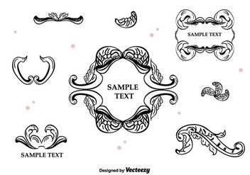 Vintage Frames and Borders - vector gratuit #397531