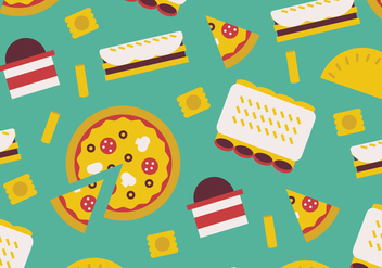 Italian Food Pattern - vector gratuit #397621