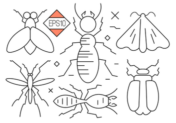 Bug and Insect Vector Icons - Kostenloses vector #397691