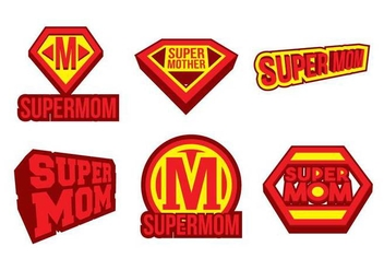 Super Mom Vector - Free vector #397711