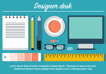 Free Designer Desk Illustration - Free vector #397861