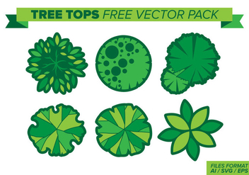 Tree Tops Free Vector Pack - Free vector #397891
