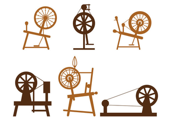 Spinning Wheel Vector - vector gratuit #397911