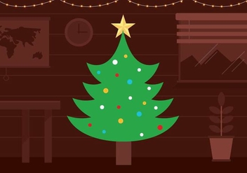 Free Vector Christmas Tree Background - Free vector #397931