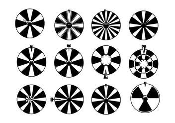 Spinning Wheel Vectors - бесплатный vector #397961