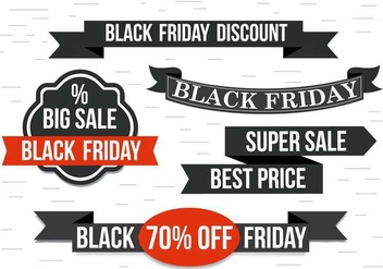 Free Black Friday Vector Ribbons - Kostenloses vector #398131