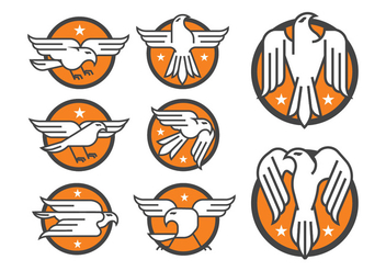 Eagle Badge Vectors - бесплатный vector #398261